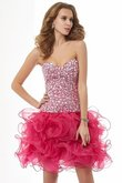 Abito Homecoming Cuore Senza Maniche Mini Tubino in Organza