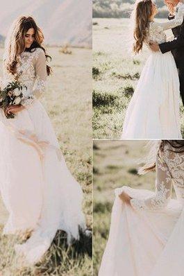 Abito da sposa cerniera nobile a terra decorato stravagante in chiffon