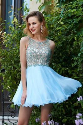 Abito Homecoming A-Line in Chiffon Mini Tondo Principessa
