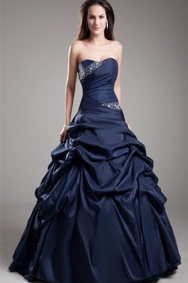 Abito Quinceanera in Taffeta Ball Gown con Perline A-Line con Increspato