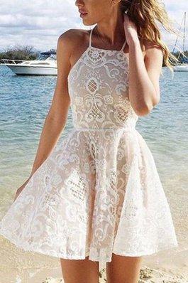 Vestito Laurea Naturale Principessa Anello Corto A-Line