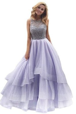 Abito Quinceanera A Terra con Perline Ball Gown in Organza Tondo