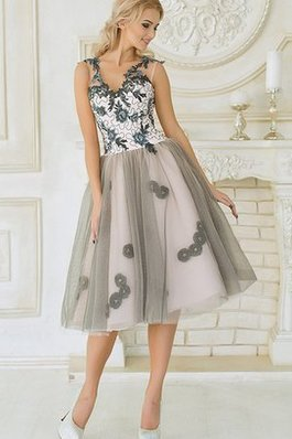 Abito Homecoming in Tulle Sogno A-Line in Pizzo Semplice