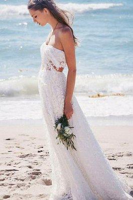 Abito da Sposa Moda A-Line Sogno a Spiaggia Formale E Informale