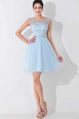 Abito Homecoming A-Line con Perline Semplice Retro in Tulle